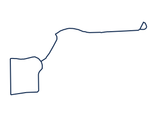 Map showing location of E Route